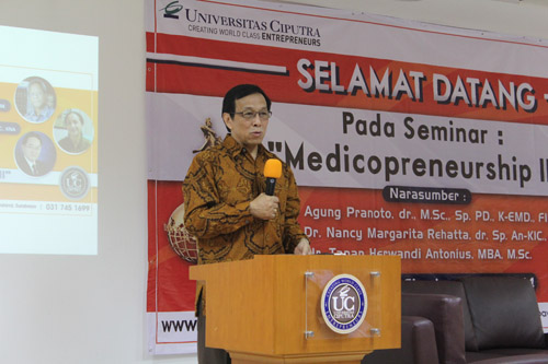 Tony Antonio Speech for Medicopreneurship at Universitas Ciputra